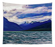 Ushuaia Ar Ocean Mountains Clouds Tapestry