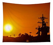 Uss Carl Vinson At Sunset 3 Tapestry