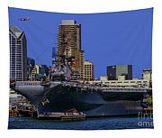 Uss Midway San Diego Ca Tapestry