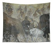Uttc - Buffalo Mural Left Panel Tapestry