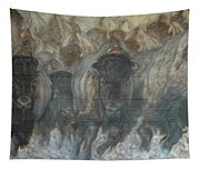 Uttc Buffalo Mural Right Panel Tapestry