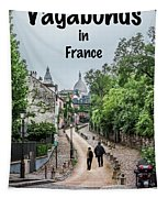 Vagabonds In France Book Cover Tapestry