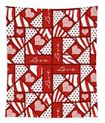 Valentine 4 Square Quilt Block Tapestry