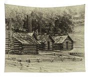 Valley Forge Barracks In Sepia Tapestry
