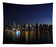 Vancouver Night Lights Tapestry
