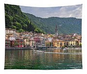Varenna Italy Old Town Waterfront Tapestry