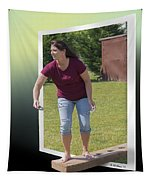 Variation On The Cornhole Game Tapestry