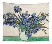 Vase With Irises Tapestry
