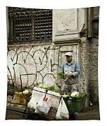 Vegetable Vendor Havana Cuba Tapestry