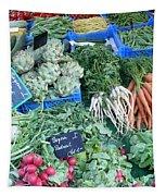 Vegetables At German Market Tapestry