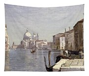 Venice - View Of Campo Della Carita Looking Towards The Dome Of The Salute Tapestry