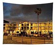 Venice Beach. Golden Sunset Tapestry