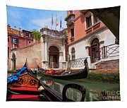 Venice From A Gondola Tapestry