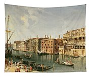 Venice, Grand Canal And The Fondaco Dei Turchi  Tapestry