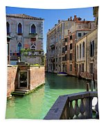 Venice Italy Canal And Lovely Old Houses Tapestry