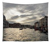 Venice Italy - Pearly Skies On The Grand Canal Tapestry