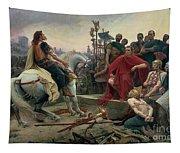 Vercingetorix Throws Down His Arms At The Feet Of Julius Caesar Tapestry