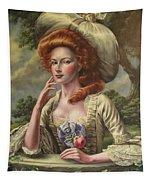 Vermilion Cheeks Tapestry