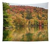 Vermont Fall Foliage Reflected On Pogue Pond Tapestry