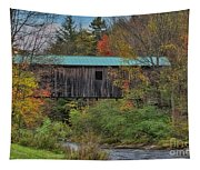 Vermont Rural Autumn Beauty Tapestry