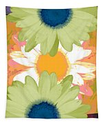 Vertical Daisy Collage II Tapestry