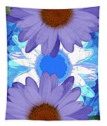 Vertical Daisy Collage Tapestry
