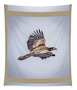 Vertical Eagle Triptych Tapestry