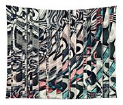 Vertical Graphic Layers Tapestry