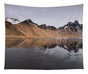 Vestrahorn Mountain In Stokksnes Iceland Tapestry