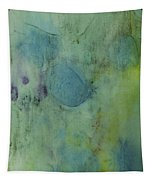 Vibrant Green Abstract Ink Design Tapestry