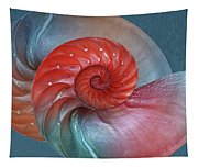 Vibrant Nautilus Pair - Horizontal Tapestry