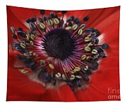 Vibrant Red Tapestry
