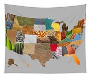 Vibrant Textures Of The United States Tapestry