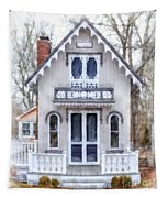 Victorian Cottage Watercolor Tapestry by Edward Fielding
