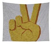 #victory Hand Emoji Tapestry