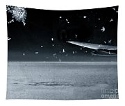 The View From Airplane Bw Tapestry