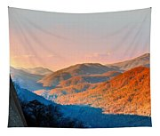 View From Chimney Rock-north Carolina Tapestry