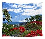 View From Keauhou Kona Tapestry