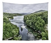View From The Monksville Bridge Tapestry