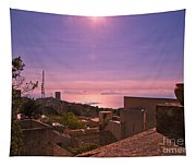 View From The Top In Sicily 2 Tapestry