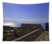 View From The Top In Sicily Tapestry
