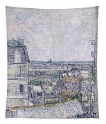 View From Vincent's Room In The Rue Lepic Tapestry