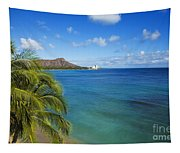 View Of Diamond Head Tapestry