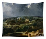View Of Jerusalem From The Valley Of Jehoshaphat Tapestry