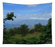 View Of Mauna Kahalewai West Maui From Keokea On The Western Slopes Of Haleakala Maui Hawaii Tapestry