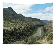 View Of Salt River Canyon Tapestry