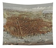 View Of San Francisco Tapestry