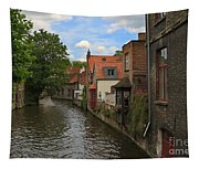 View Of The Canal From Maria Brug On Katelijnestraat In Bruges Tapestry
