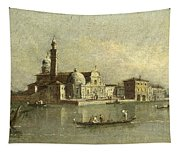 View Of The Isola Di San Michele In Venice Tapestry