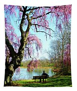 View Of The Lake In Spring Tapestry